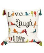 Fennco Styles Fun Inspirational Embroidered And Tasseled Decorative Thro... - £38.78 GBP