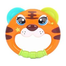 Set of 2 Plastic Cartoon Tiger Baby Infant Baby Toys Rattles Hand Bell