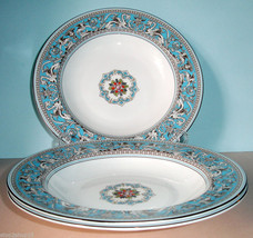 Wedgwood FLORENTINE TURQUOISE Set Of 4 Rim Soup... - $379.90