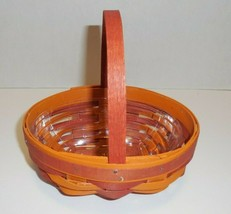 Longaberger What Not What's Not Booking Basket & Protector 2016 Orange - $49.45