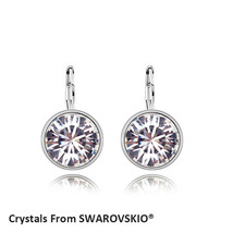 2019 Hot Sale Bella mini pierced round earrings Crystals from SWAROVSKI ... - $20.36