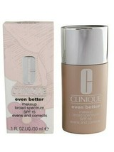 Clinique Even Better Makeup Broad Spectrum Spf15 Evens & Correct Foundat... - $31.62