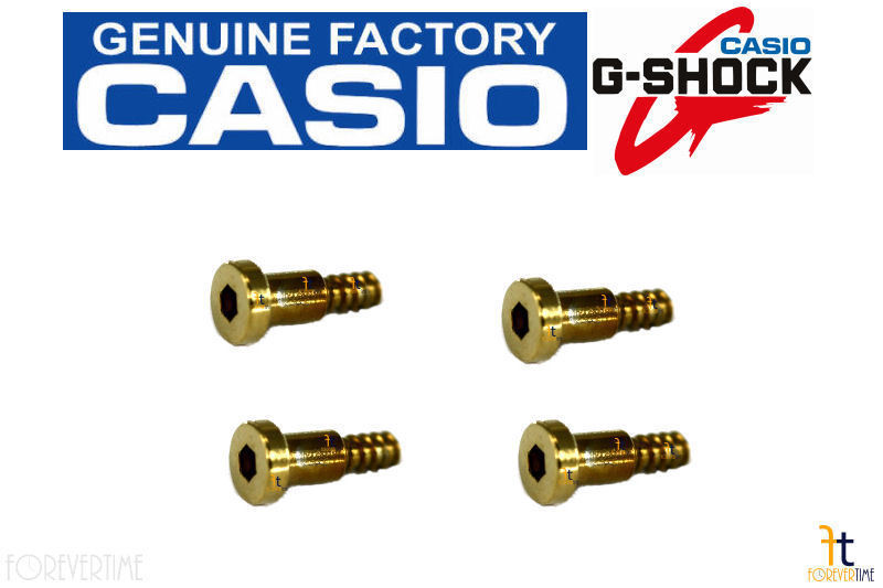 Primary image for CASIO G-Shock Gulfmaster GWN-1000 Gold-Tone Watch Band Screw (Outside) QTY 4