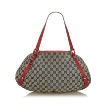 Pre-Loved Gucci Brown Beige Canvas Fabric GG Pelham Tote Bag Italy - $543.86 CAD