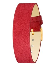 Moog Paris Mat Red Pecari Leather Bracelet for Women, Pin Clasp, 18mm Ba... - $46.65