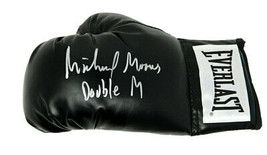 Michael Moorer Signed Everlast Black Boxing Glove w/Double M - Schwartz - $98.01