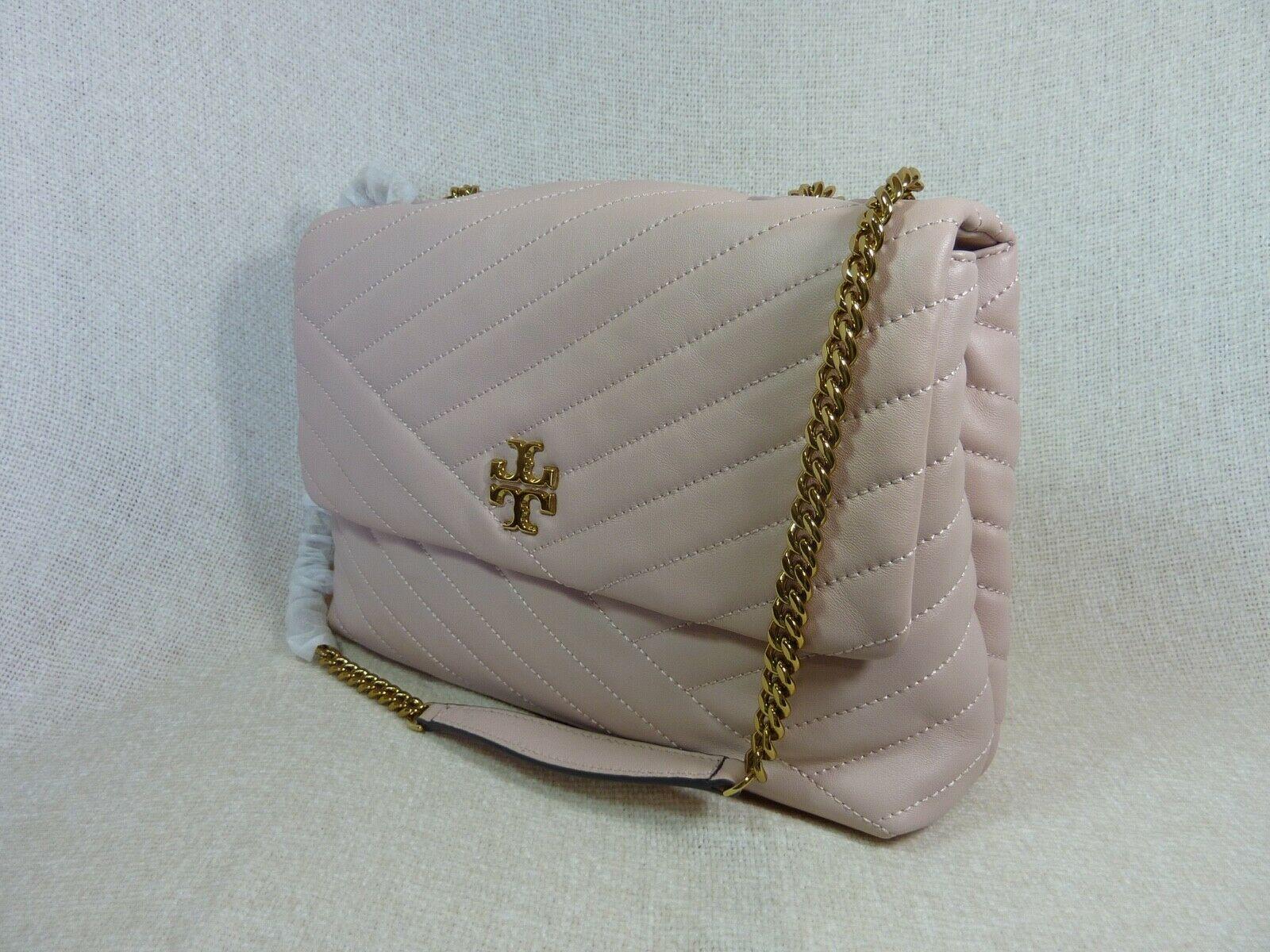 NWT Tory Burch Pink Moon Kira Chevron Convertible Shoulder Bag $528 image 5