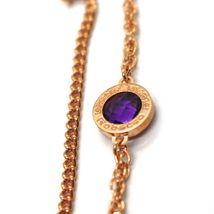 """REBECCA BRONZE ROSE LONG NECKLACE 31.5"""", DOUBLE CHAIN, HEART DISC, B14KRA38 image 4"""