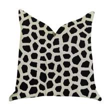 "Luxury Throw Pillow in Black and White  Double sided  20"" x 36"" King - £517.15 GBP"