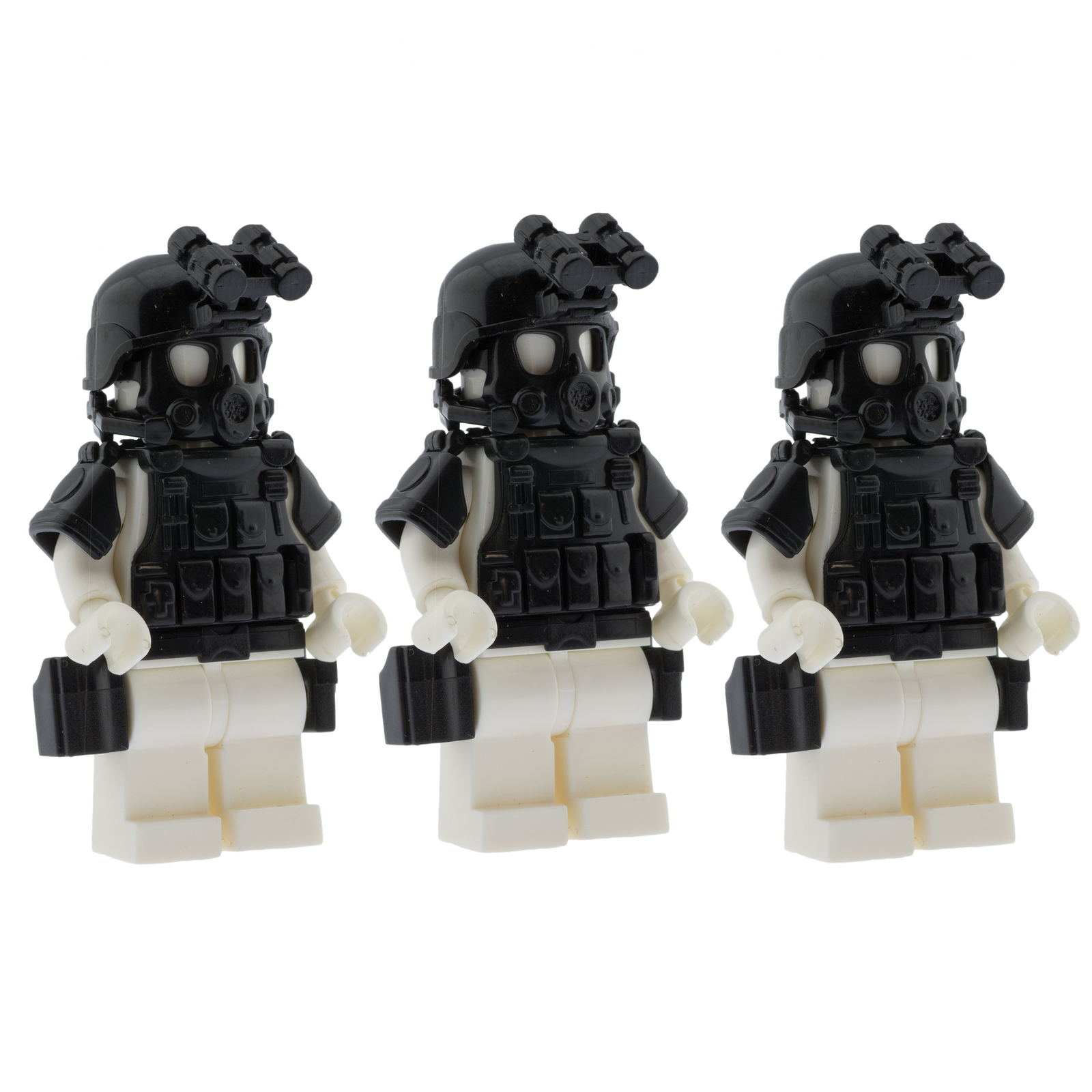Custom Minifigures Military SWAT Armor Set Compatible w/ Lego Sets Army Minifigs