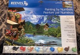 "Paint By Numbers DIY Art Kit Complete Set Mountain Chalet Portrait 16"" X... - $17.81"
