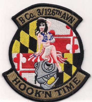 Primary image for US Army Company B 3-126th General Support Aviation Battalion (GSAB) Patch