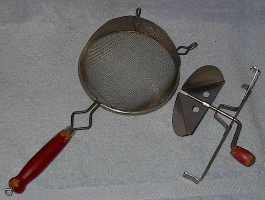 Vintage A and J Bowl Strainer with Blender Juicer Attachment image 2