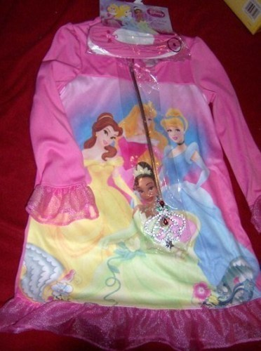 Disney Princess Girls Nightgown Wand Slippers SZ 6 NEW Bonanza