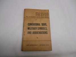 1943 World War II CONVENTIONAL SIGNS MILITARY SYMBOLS ABBREVIATIONS Manual - $19.79