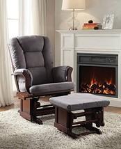 Acme 2 Piece Aeron Glider Chair & Ottoman, Gray & Cherry - $734.19
