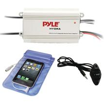 Pyle Hydra Series 200-watt Marine Amp Kit With Bluetooth (4 Channels) - $63.48