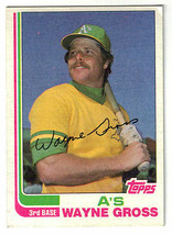 1982 Topps Wayne Gross Oakland Atheletics #692 Baseball Card - $1.97