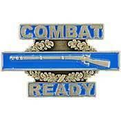 "Primary image for US ARMY CIB 1ST AWD COMBAT READY BADGE PIN (1"")"