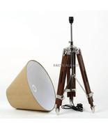 Handwoven Dark Brown Wooden Tripod Floor Lamp - Home Decor   - $249.00