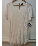 Lee Women's Short Sleeve Knit Top Sz XL Ivory Cream White Stretch  NWT New - $13.95