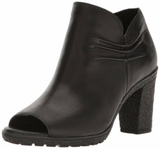 Women's Timberland GLANCY RUCHED PEEP-TOE BOOTS, Black  A1FJH015 Sizes 6... - $124.95