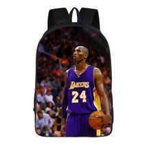 NBA Basketball Lakers 24 Kobe Bryant 3d Print Backpack School Sports Bag - $19.99
