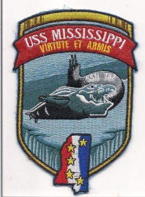 Primary image for US Navy SSN 782 - USS Mississippi Class Attack Submarine nuclear powered Patch