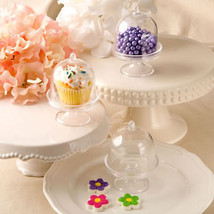 30 Clear Medium Cake Stands Cupcake Favor Wedding Favors Container Party Favors - $41.88