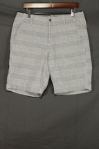 NEW Men's GAP Flat Front Shorts Chambray Stripe 9.5 Inch 33 - $22.94