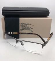 New BURBERRY Eyeglasses B 1282 1008 55-18 145 Brown & Tortoise with Plaid Design
