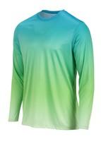 Sun Protection Long Sleeve Dri Fit  Aqua Blue Lime  base layer sun shirt UPF 50+ image 2