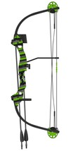 Barnett 1278 Kids 'Tomcat 2' Youth Compound Bow & Arrow Set Green Right ... - $42.95