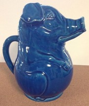 Schmid Design Folio Blue PIG Pitcher Drink Juice Milk Pitcher Hog MCM US... - $39.99