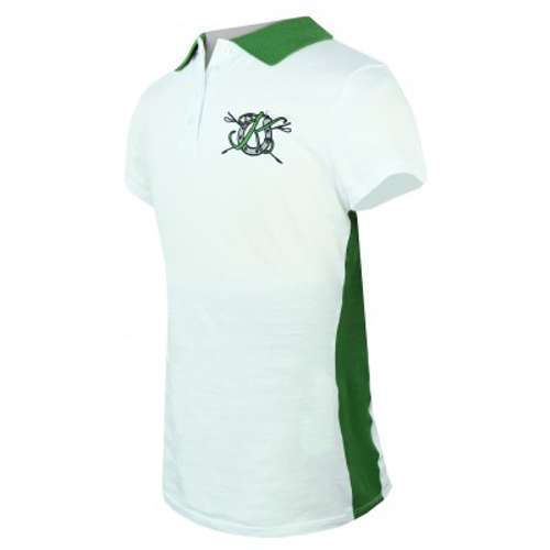 KAKI Kids Child Youth Signature Polo White and Green Size 4