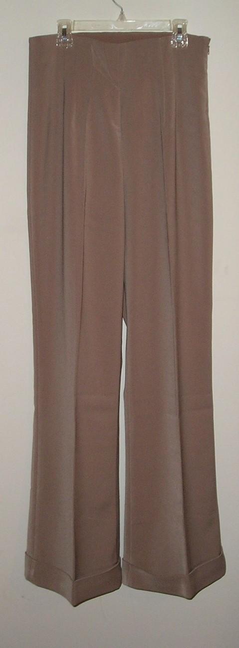 NEW! NEWPORT NEWS Women's Beige Dress Pants Size 8 / M Medium