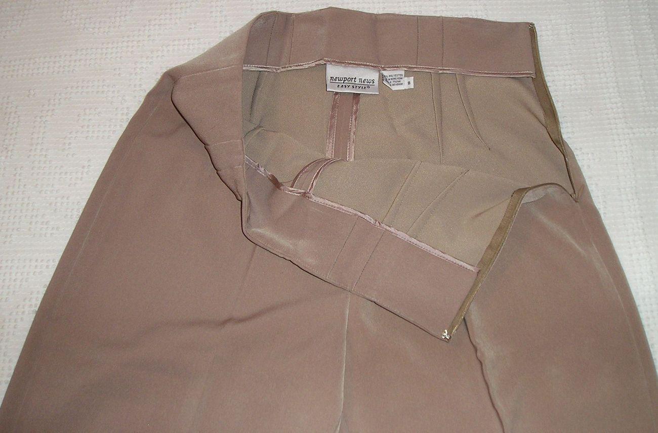 NEW! NEWPORT NEWS Women's Beige Dress Pants Size 8 / M Medium  image 2