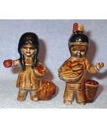 Indian Boy and Girl Pottery or Heavy Porcelain Figures - $8.00