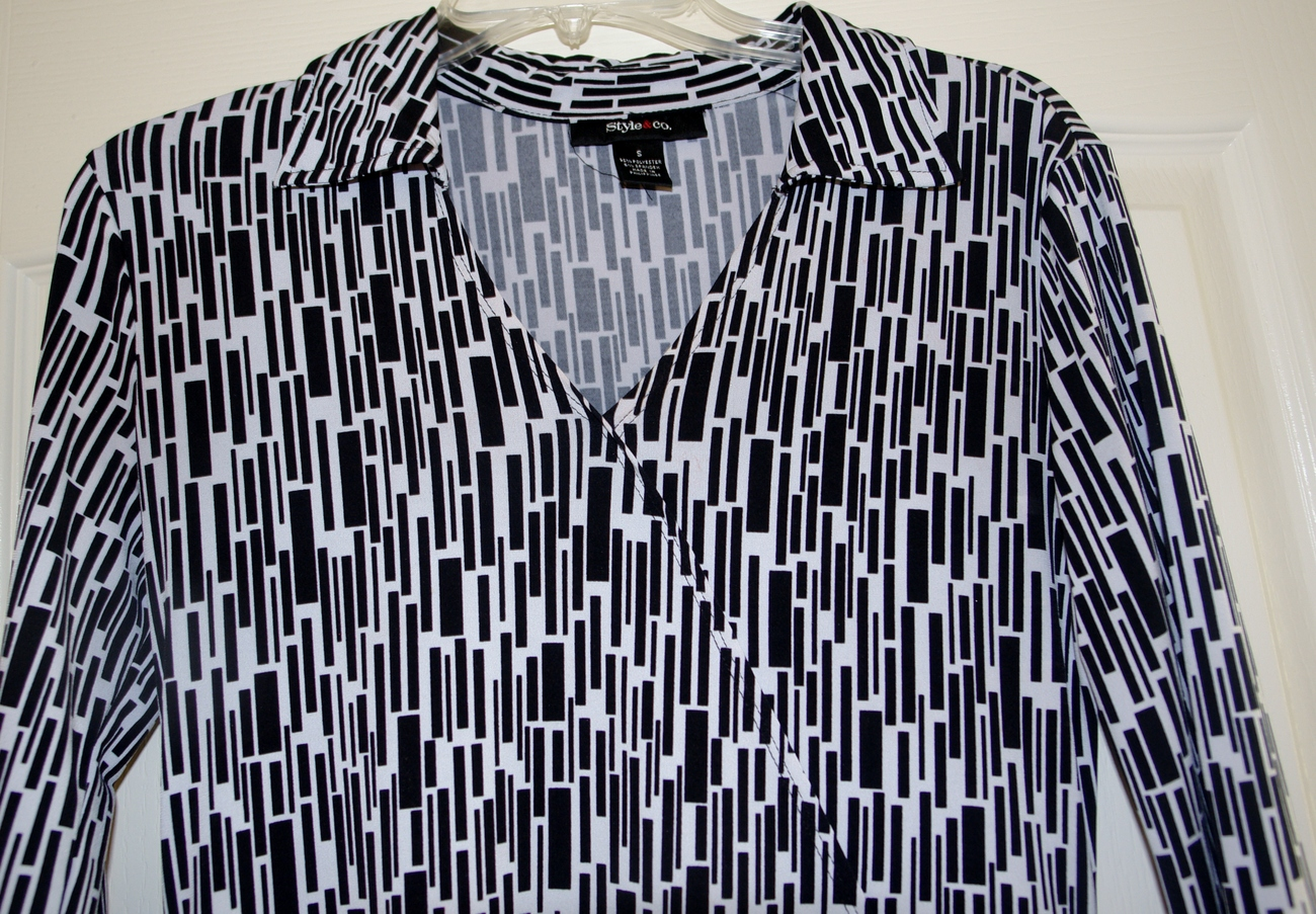 Style & Co. Ladies Black and white dress size small image 2