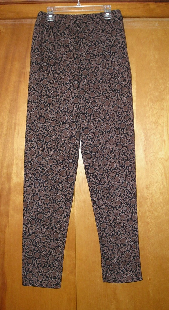 CENTRAL FALLS Women's Brown/Black Pants M (Medium) / 6 - 8