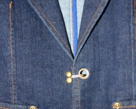 New Ladies Denim Jacket Size 12P image 2