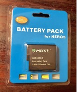 MIBOTE Rechargeable Battery 1 Pack 3.85v 1220mAh  4.7 Wh for GoPro Hero ... - $18.69