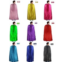 iROLEWIN Adults Superhero Cape Cloak For Men & Women With Mask Dress up ... - $55.15