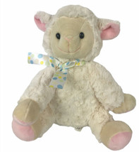 "Treasures Lamb 12"" Plush Ribbon Tie Soft White - $27.27"