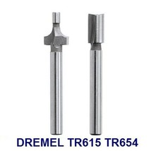 """Dremel Trio Router Bits TR615 Roundover And TR654 3/16"""" Shank Straight TR670 - $14.99"""