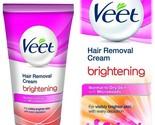 Veet Hair Removal Cream, Brightening - Normal to Dry Skin, 25 g