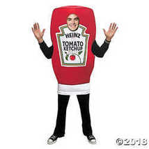 Rasta Imposta UHC Heinz Ketchup Squeeze Bottle Tunic Funny Theme Party Halloween - £66.53 GBP