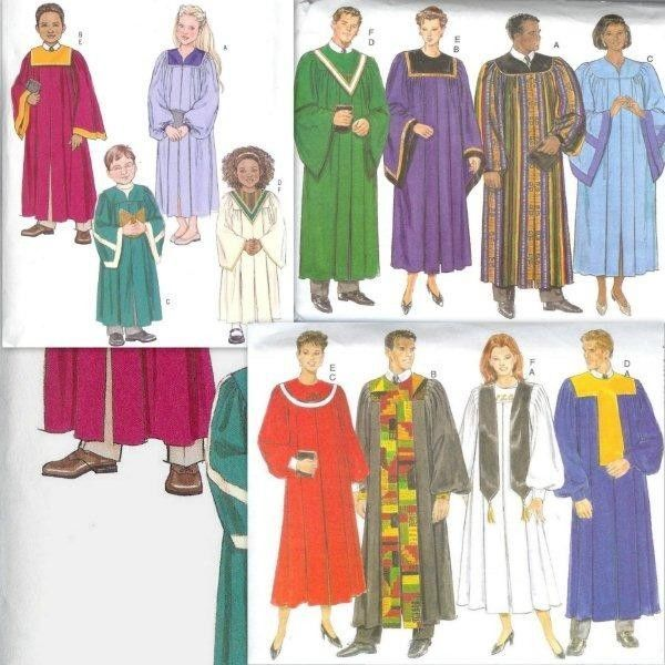 Church Choir Robe Butterick Sewing Pattern And Similar Items
