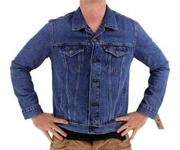 NEW LEVI'S MEN'S PREMIUM BUTTON UP DENIM JEANS JACKET LIGHT BLUE 723350042 image 4
