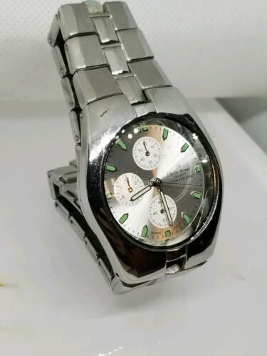 Charles Bernard Vintage Mens Water Resistant Chronograph Watch Japan Mfg